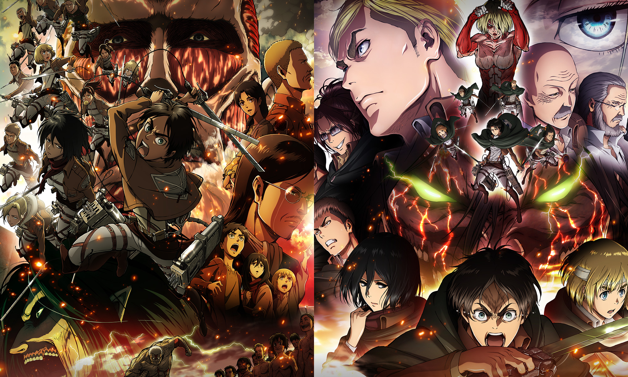 Watch the first two Attack on Titan compilation movies, full-length  animated films recapping Season 1. One movie will be shown each night.